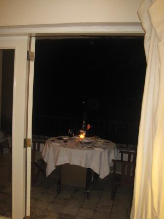 Casa Colonial Beach & Spa: Dining on our room's terrace