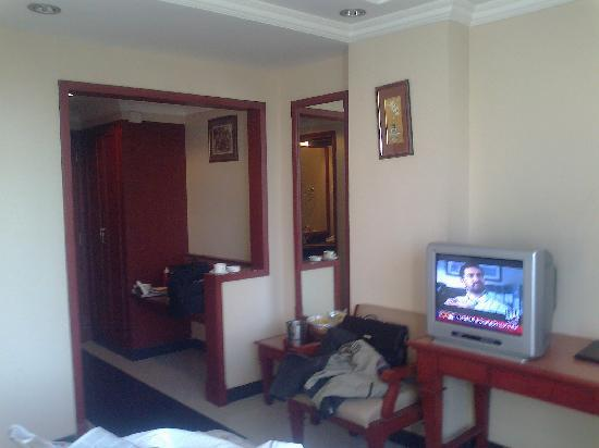 Hotel Niky International: View From Bed