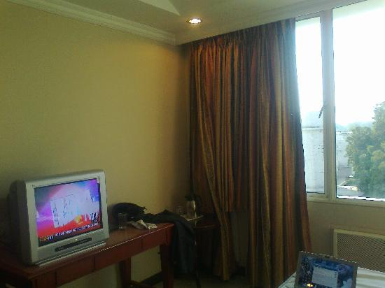 Hotel Niky International: i was expecting a LCD tv on wall