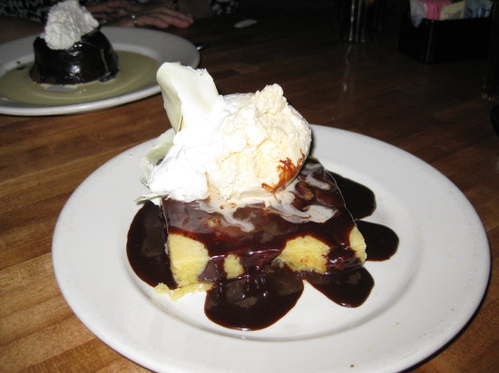 White Chocolate Grill: White Chocolate Brownie for 2