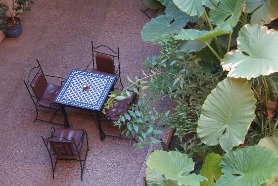 Toulousain Hotel: the courtyard
