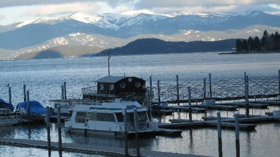 Pend Oreille Shores Resort : View of mountains and lake from room