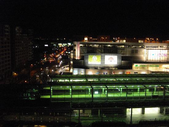 APA Hotel Chiba Yachiyo Midorigaoka : 部屋から駅が真近くに見えます。その向こうにショッピングセンターがあります夕食はここで済ませた方が良いでしょう。