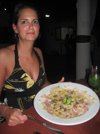 escuela de hosteleria masachapa: Carpacio de poisson, avec parmesan et câpres