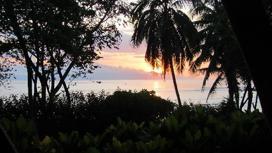Cabo Matapalo, Costa Rica: Sunrise from front porch