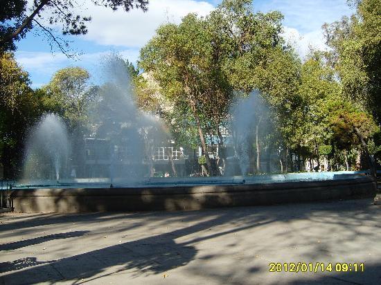 Casa de la Condesa: Plaza Luis Cabrera across the street