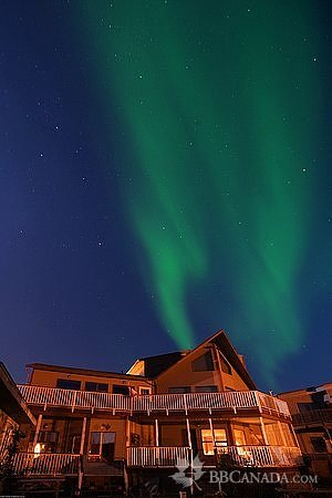 Bayside Bed & Breakfast: View from the Lake, with Aurora Above