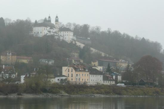 Pilgrimage Church and Pauline Fathers' Monastery: View over to Mariahilf