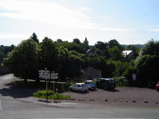 Pierre-Perthuis, France: view from our room