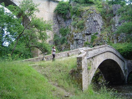 Pierre-Perthuis, France: five minutes walking distance: the Pont Vauban and the forest