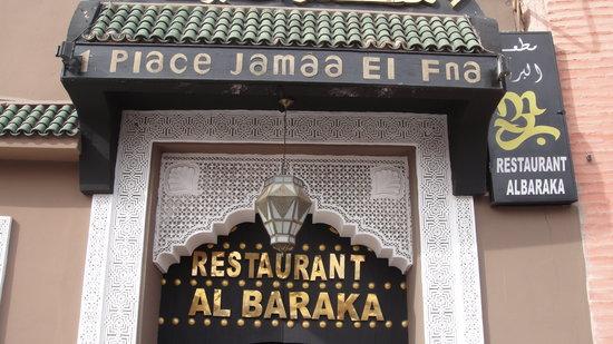 Entrance to Al Baraka restaurant