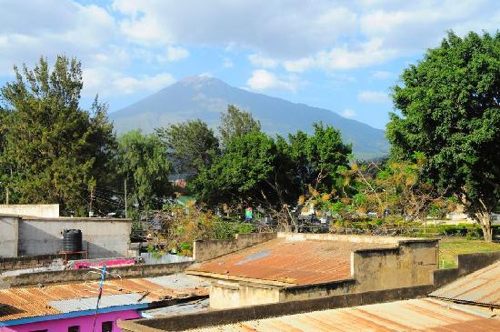 Hotel Flamingo: view from our room - Mt. Meru