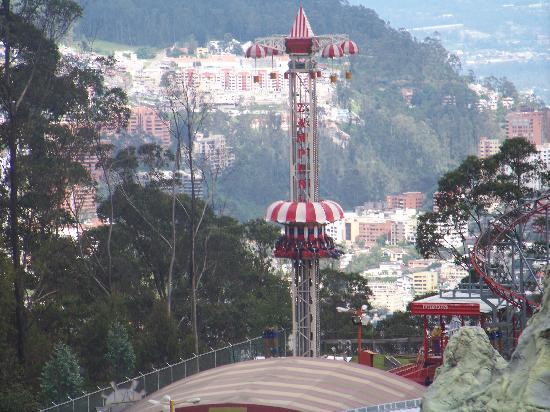 Quito, Ecuador: View from gondola boarding area.