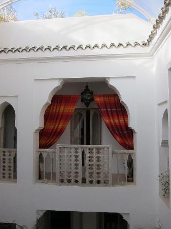 Inside Riad Safa- Our balcony