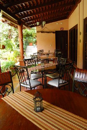 Hotel Boutique Villa Maya: Eating area