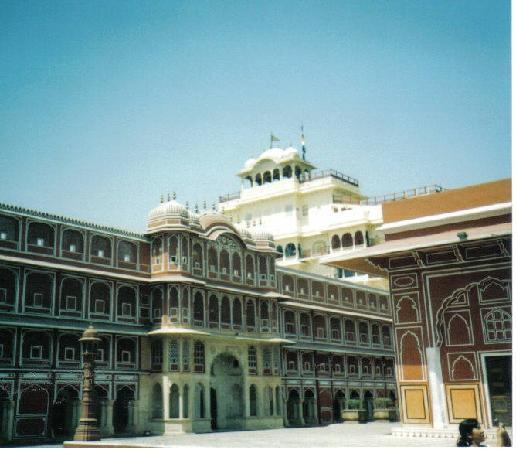 Courtyard at City Palace. Jaipur