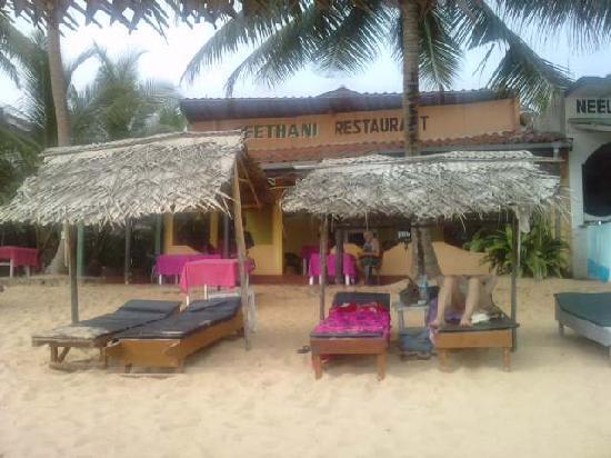 Hikkaduwa, Sri Lanka: beachfront seethani