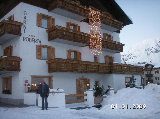 Hotel Garni Roberta at Christmas time