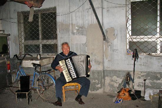 Peking, Kiina: Un musicien dans les Hutongs de Beijing