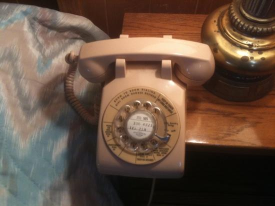 High Country Lodge : no kidding, a rotary dial phone.