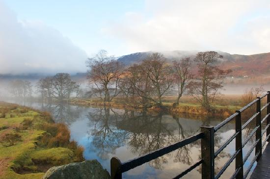 ‪‪Borrowdale‬, UK: Dawn near the Lodore Falls‬