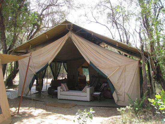 Nairobi Tented Camp: Die Reception, Lobby und Aufenthaltsraum!