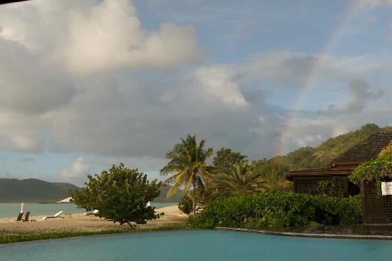 Saint Mary's, Antigua: Post shower rainbow