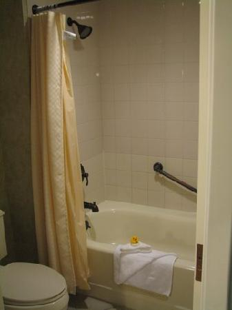 Chukchansi Gold Resort & Casino: No walk-in shower but you can't have everything. (who takes a bath in a hotel? UGH!)