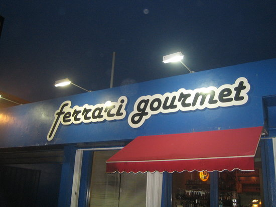 Ferrari Gourmet: Our storefront at night