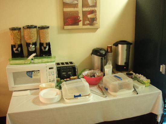 Hotel Plateau Royale: petit déjeuner camping