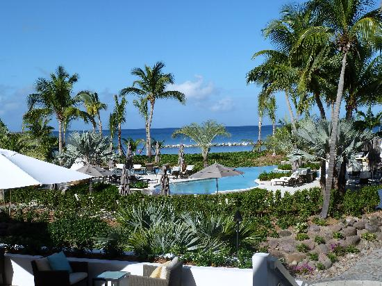 Four Seasons Resort Nevis, West Indies : pool view from Great Room