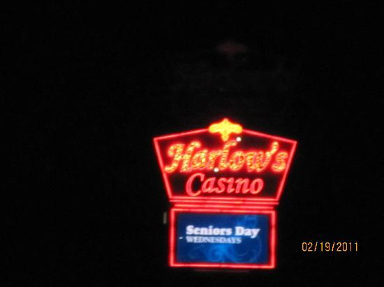 Harlow's Casino Resort & Hotel: Sign at nite from our room 312