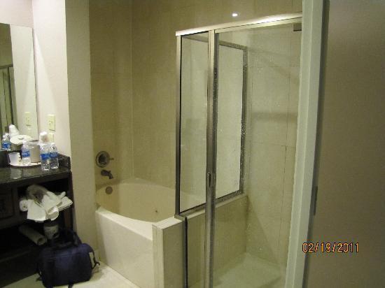 Harlow's Casino Resort & Hotel: Spa tub and shower