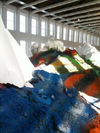 MASS MoCA: colorful dirt piles