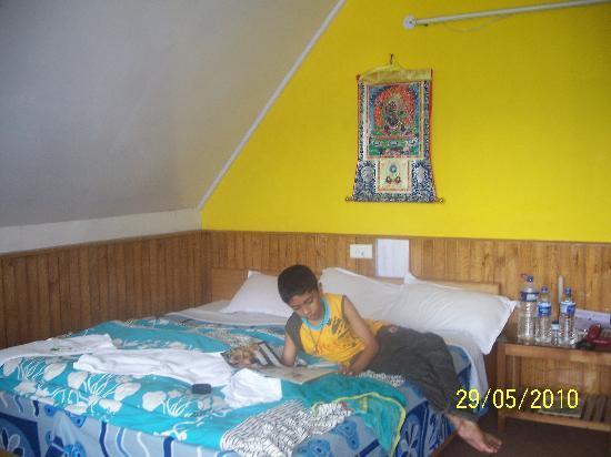 Mandarin Village Resort: My son is enjoying within the cottage room