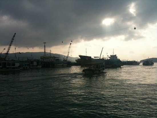 early morning departure from Nha Trang harbour.