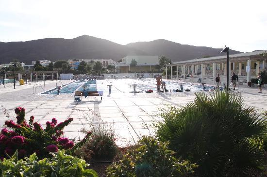 Las Playitas, Spain: Solnedgang over den olympiske pool