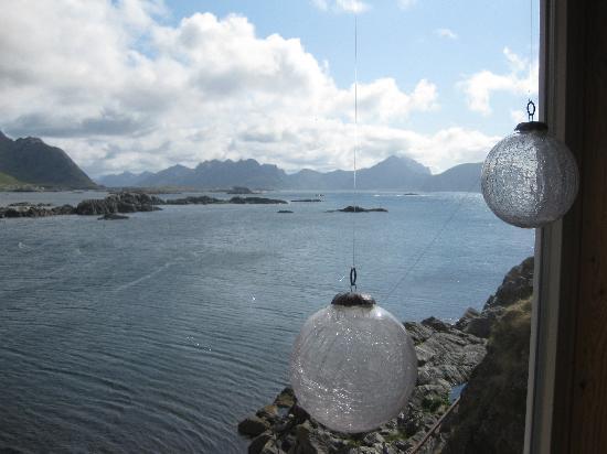 Nyksund: der Blick aufs Meer vom Loft