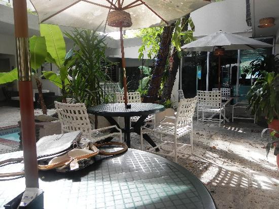 Oceana Hostal Playero: Breakfast area