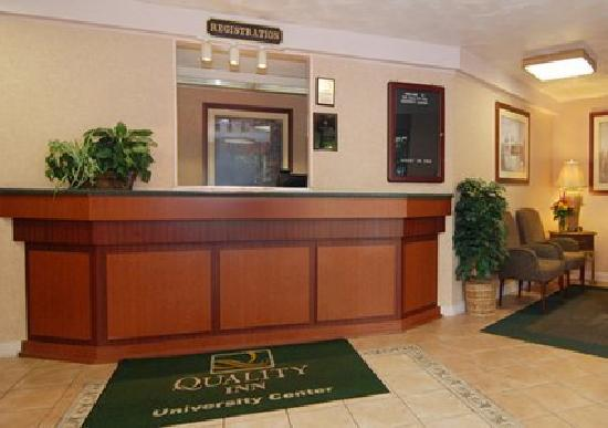 Quality Inn University Center: Front Desk - RENOVATION COMING SOON!