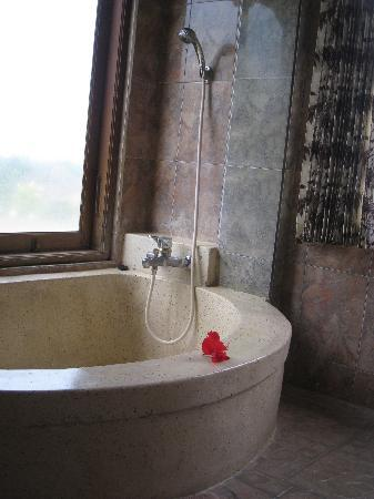 Hibiscus Cottages : tub in double deck room