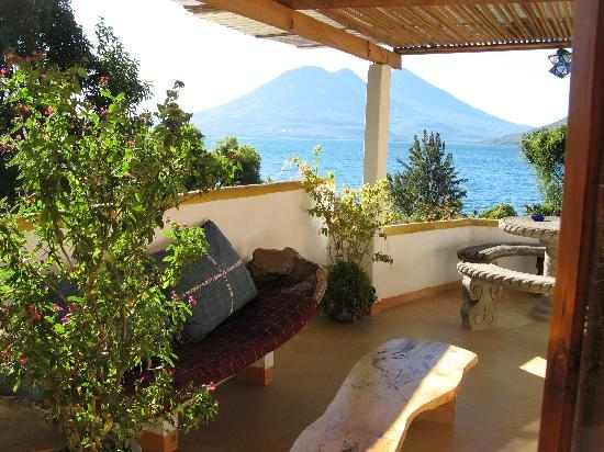Lush Atitlan/Hotel Aaculaax: Our own private patio