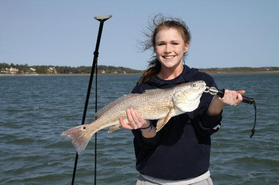 One of many spotted bass picture of off the hook fishing for Off the hook fishing charters
