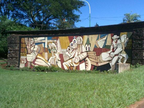 Apostoles, Argentina: mural