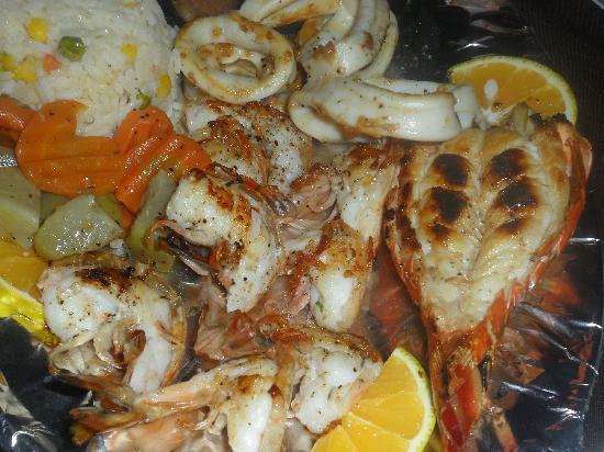 Restaurant Piedra Escondida: grigliata mista
