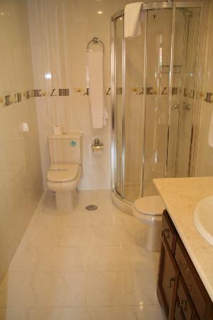 Hostal Sil & Serranos: el baño de la habitacion