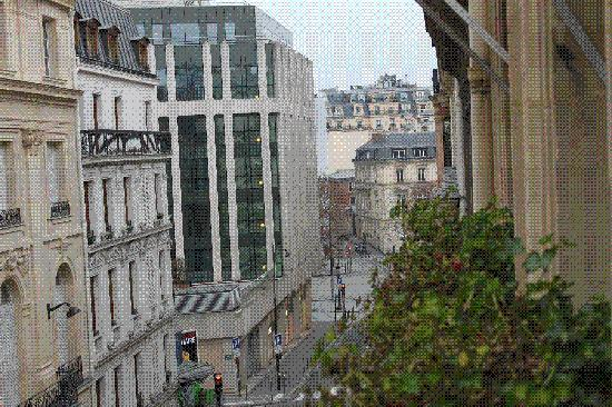 Hotel Galileo: View from the room...Champs Elysees is the intersection