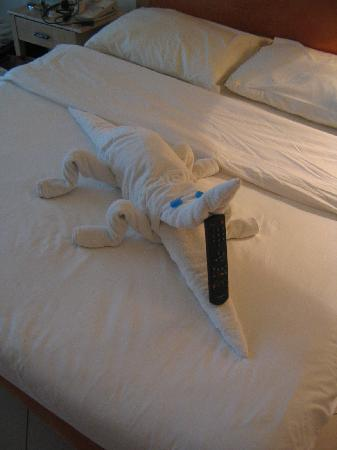Movenpick Resort Taba Hotel : Towel Art by Omar