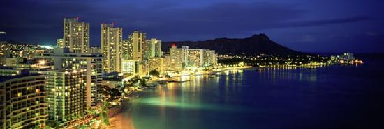 Oahu, HI: Waikiki at Night