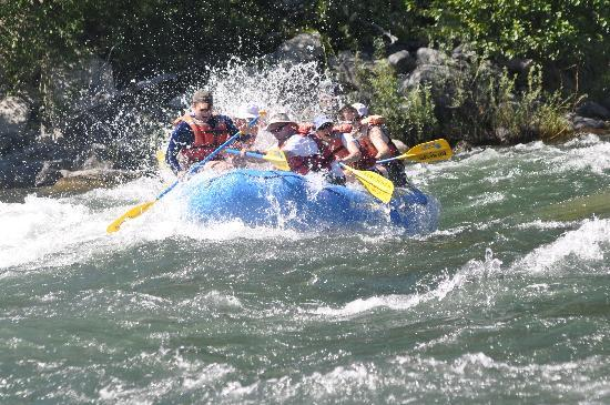 River Recreation Whitewater Rafting Day Trips: Us in the waves
